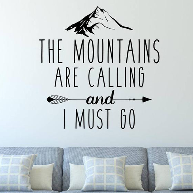 Adventure Travel Wall Decals Quotes The Mountains Are Calling And