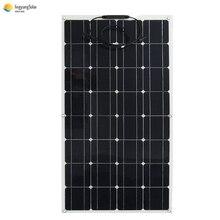 GÜNEŞ PANELI 100W 200W esnek monokristal fotovoltaik plaka cep kiti için 12V 24V güneş arabası pil