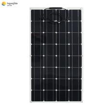 Pannello solare 100W 200W Flessibile Monocristallino Fotovoltaico piatto cellulare kit per 12V 24V Solare batteria Auto