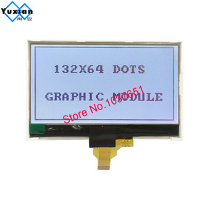 Image 5 - 132*64 COG lcd display grafik modul SPI Serielle 12pin FSTN grau ST7567 mit helle hintergrundbeleuchtung serielle modul LG132643 FDW