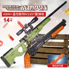 Fit Technic série pistolets fusil de chasse peut tirer des balles ensemble AWM Winchester modèle militaire blocs de construction jouets pour garçons cadeaux