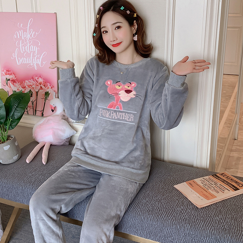 Betyline 2019 New Winter Pajamas For Women Sleepwear Warm Flannel Long Sleeves Pajamas Cute Animal Homewear Thick Homewear 163