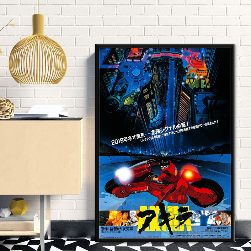 Akira Red Fighting Japanese Anime Posters And Prints Wall Pictures For Living Room Canvas Painting Decorative Home Decor Cuadros