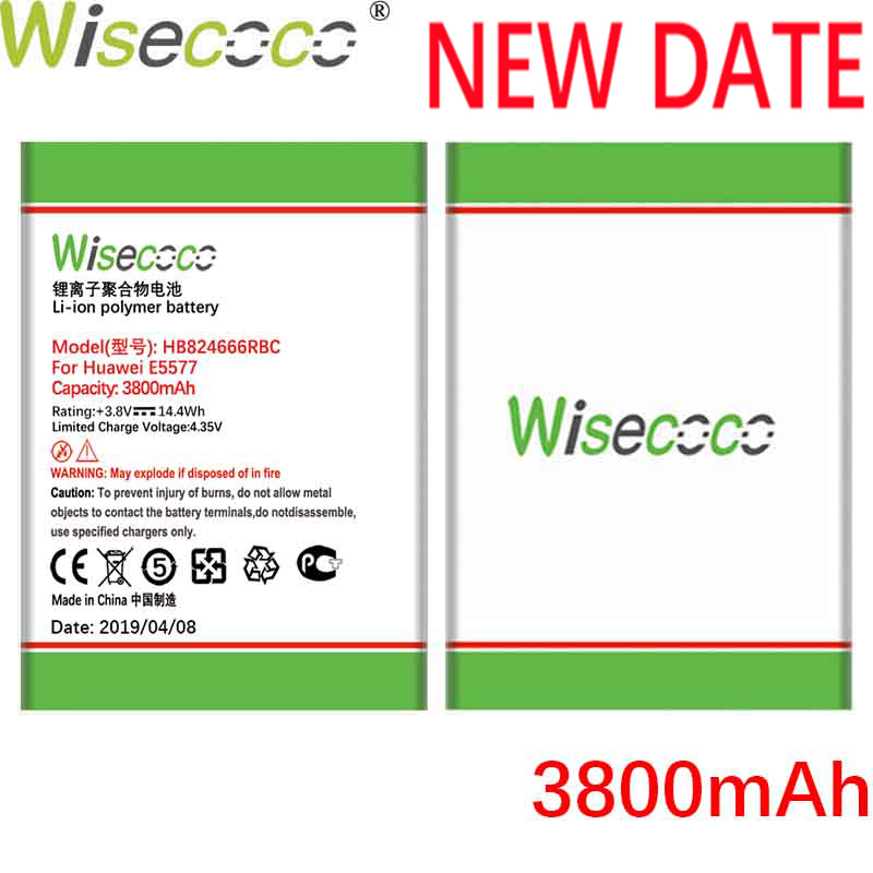 Wisecoco HB824666RBC 3700mAh New Battery For Huawei E5577 EBS-937 High quality WIFI Router Replacement