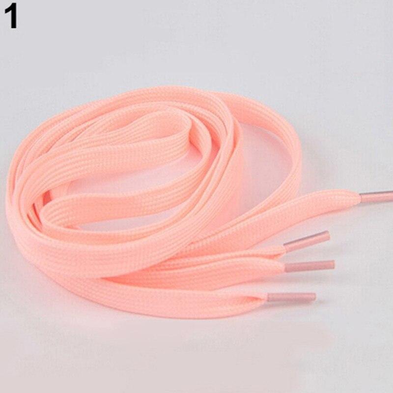 100cm One Pair Sneaker Sport Shoes Lace Polyester Neon Color Luminous Shoelaces Stringhe Scarpe Schoenveters Elastic Shoe Lace