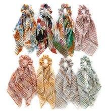 Hair Ties Scarf Floral Print