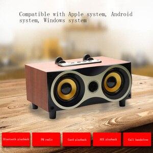 Портативный Настольный беспроводной динамик сабвуфер стерео Bluetooth динамик s Поддержка FM Радио MP3 AUX USB для мобильных телефонов тв компьютеров