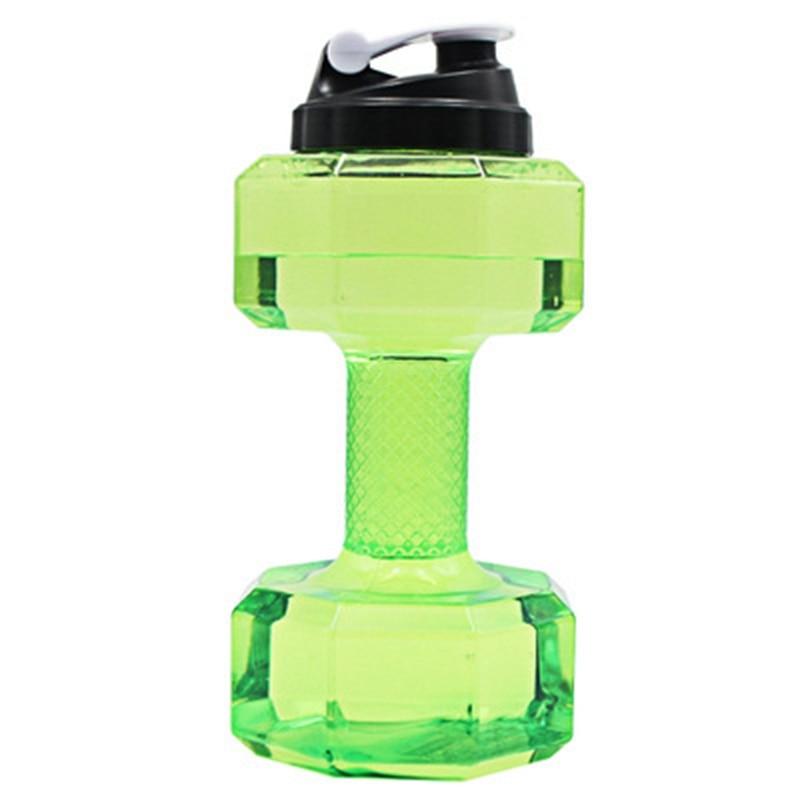 Large Water Bottle Outdoor Sports Bottle 2.2 Liter PETG Dumbbell Sport Running Fitness Exercise Fitness Shake Weight|Sports Bottles| |  - title=