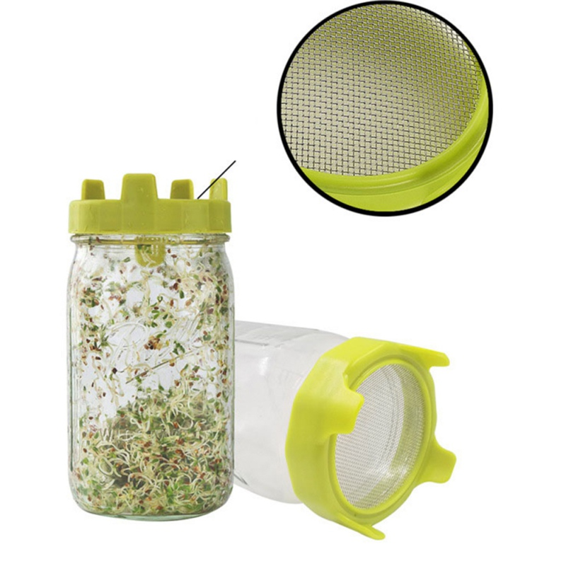 Mason Jars Seed Sprouting Lids Strainer Canning Sprouting Screen Lids Filters Lid Filter For Wide Mouth Ball Canning