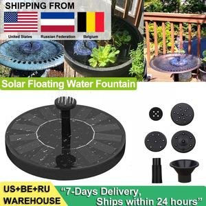 Solar Fountain Bird Bath Patio Landscape Floating Water Pump Outdoor Garden Pool Pond Waterfall Decor Solar Powered Fountain(China)