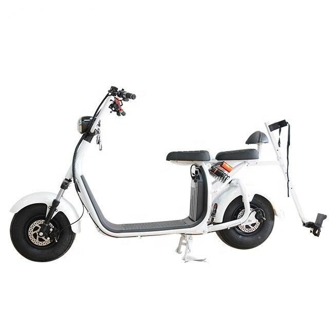 Мощный с толстыми покрышками 2-колесный скутер с крышей для игры в гольф мобильность Citycoco Электрический мотоцикл велосипед трехколесный ве...