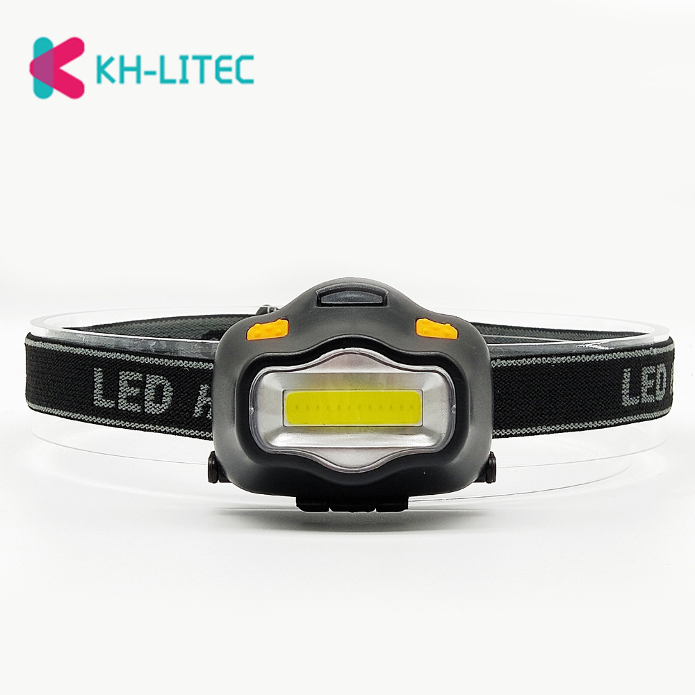 Outdoor Lighting <font><b>Head</b></font> <font><b>Lamp</b></font> 12 Mini COB <font><b>LED</b></font> Headlight <font><b>For</b></font> Camping Hiking Fishing Reading Activities White Light Flash Headlamp image