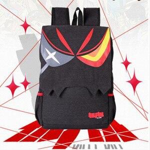 Image 2 - Аниме Kill La kill Matoi Ryuko экшн напечатанный рисунок школьные сумки на плечо сумка рюкзак Косплэй Карманный Кошелек с мешком фигурка игрушки Новый