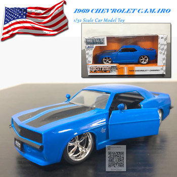JADA 1/32 Scale Car Model Toys 1969 CHEVROLET CAMARO Diecast Metal Car Model Toy For Collection,Gift,Kids mini vintage metal toy motorcycle toys hot wheel safe cool diecast blue yellow red motorcycle model toys for kids collection