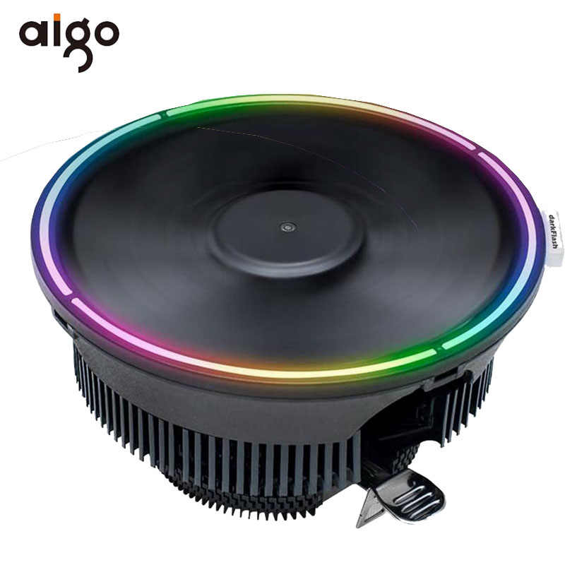 Aigo Darkflash CPU Cooler RGB Fan 3PIN Sync Komputer Cpu Pendingin Heat Sink Case PC CPU Cooler untuk AMD LGA 775/1151/1155/AM3/AM4