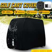 Cubierta impermeable de PVC para carro de Golf, cubierta antipolvo de tela Oxford 210D para coche de Club, lluvia y nieve, para Yamaha EZ Go Club