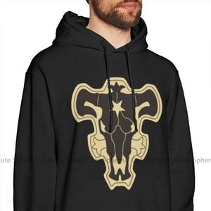 Image 2 - Zwarte Klaver Hoodie Zwart Clover Black Bulls Hoodies Outdoor Katoen Pullover Mannen Warm Blauw Grote Lange Lengte Hoodies