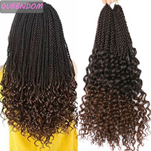 Ombre örgü postiş tanrıça Senegalese büküm saç kıvırcık biter tığ saç 18