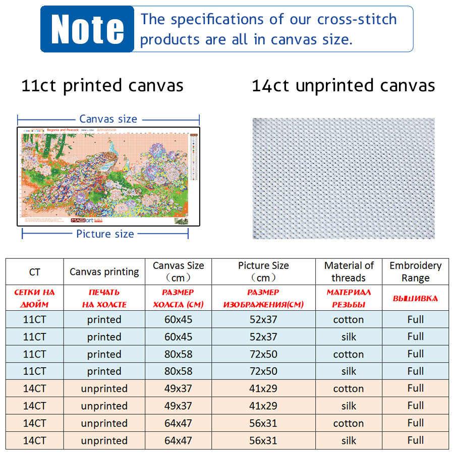 Kruissteek kits Borduren handwerken sets 11CT water oplosbare canvas patronen 14CT Dier Stijl De Eagle Flies-NCMA052