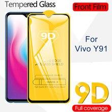 9d cobertura completa vidro temperado para vivo y91 y93 y95 y97 y81 y83 y85 protetor de tela de segurança protetor de filme frontal borda curvada
