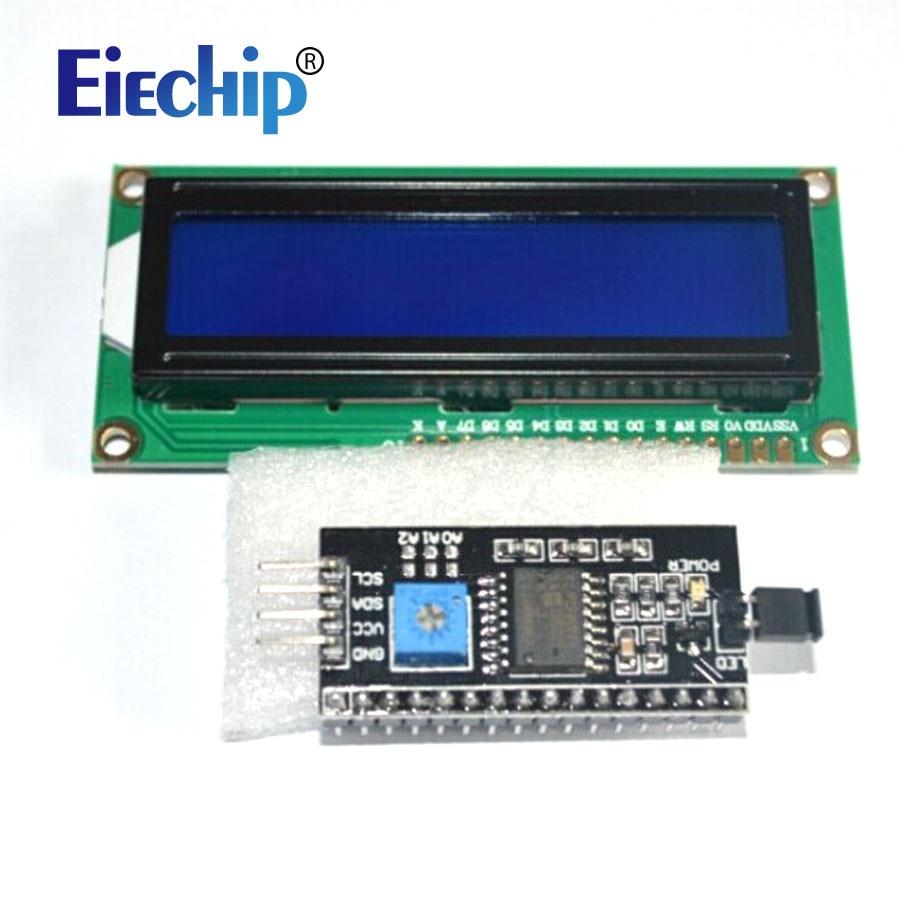 Pantalla LCD Módulo LCD1602 Pantalla Azul 1602 I2c Módulo De Pantalla LCD HD44780 16x2 IIC Carácter 1602 5V Para Pantalla Lcd Arduino