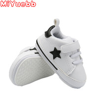 2020 New Fashion Kids Shoe 0-24 Months Sneaker For Children Baby Flat Shoes Lacing Paste Little Star Pattern Rubber Sole Sneaker