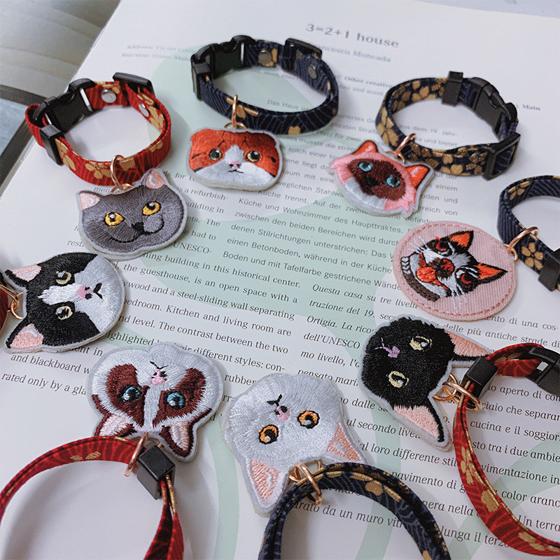 Japanese-style Cat Neck Ring Pet Necklace Collar And Wind Dogs And Cats Accessories Cat Dogs And Cats Dog Bell Collar Rope
