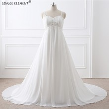 Real Photos Plus Size Beach A-line Chiffon Women Pregnant Wedding Dresses Cheap Under 50
