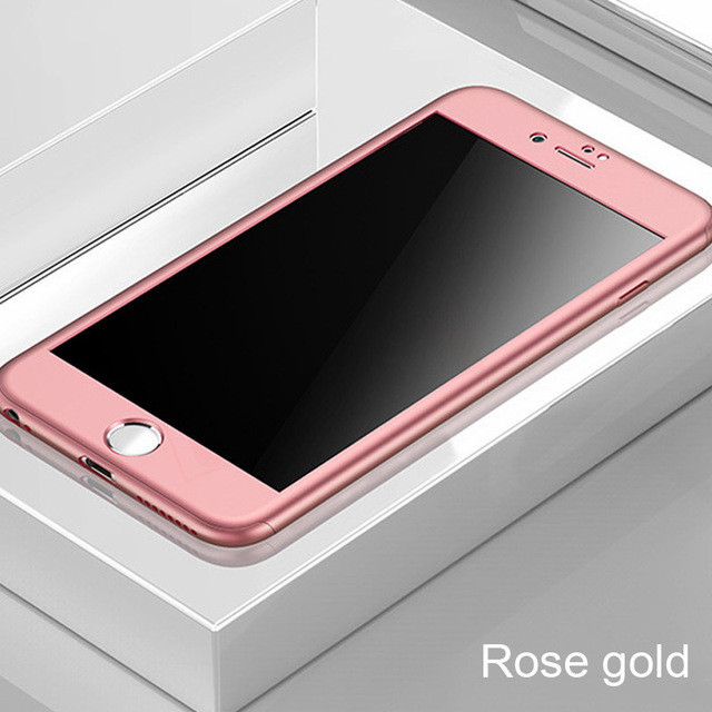 360 Full Cover Phone Case For iPhone 12 11 Pro XS MAX XR SE 2020 Protective Cover For iPhone 7 8 6 6s Plus 5 5s Case With Glass
