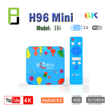 NEW Smart tv android tv box H96 Mini H6 4GB 32GB 128GB Smart tv Set Top Box wireless keyboard 6K H.265 Wifi Bluetooth HD Youtube mini portable tv free watch tv strong siginal 9 inch h 265 usb hd out support multi language battery wifi mini portable tv