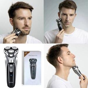 Image 5 - Rasoio elettrico per barba da uomo tagliacapelli rasoio rasoio macchina da barba originale 3 teste rasatura a secco rasoio lavabile Enchen 5