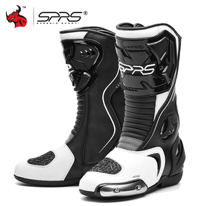 Image 1 - SPRS Motocross Boots Men Waterproof Motorcycle Boots Professional racing Moto Boots Motorbike Riding Boots Botas Moto