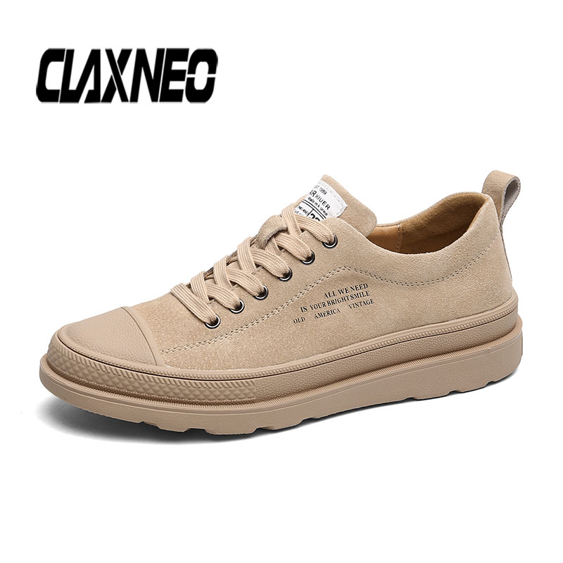 CLAXNEO Man Leather Shoes Fashion Suede Leather Casual Shoe Male Sneakers clax Men's Walking Footwear