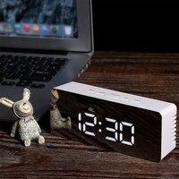 الرقمية مرآة LED شاشة إنذار ساعة درجة الحرارة التقويم USB/AAA بالطاقة الإلكترونية متعددة الوظائف غفوة ساعة مكتب