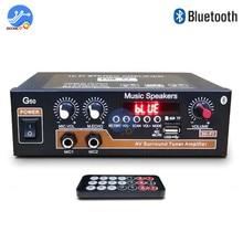 G50 800W Bluetooth 5.0 Bộ Khuếch Đại Thẻ TF FM U Đĩa USB 12V 110V 220V Rạp Hát Tại Nhà bộ Khuếch Đại Công Suất Âm Thanh Xe Hơi Siêu Trầm HIFI AMP