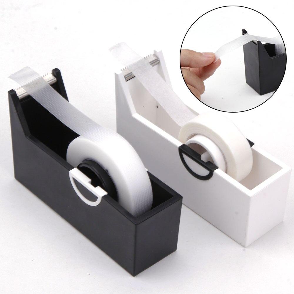 1pc Eyelashes Extension Tape Cutter Dispenser Adhesive Tape Holder Grafting Eyelash  Plastic Rotating Tape Cutting Makeup Tools