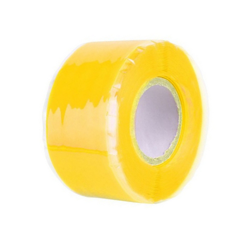 Силиконовая Водонепроницаемая лента для ремонта, склеивающая спасательная самосплавляющаяся проволочная лента, черная прозрачная пленочная лента, клейкая лента, Лидер продаж - Цвет: Цвет: желтый