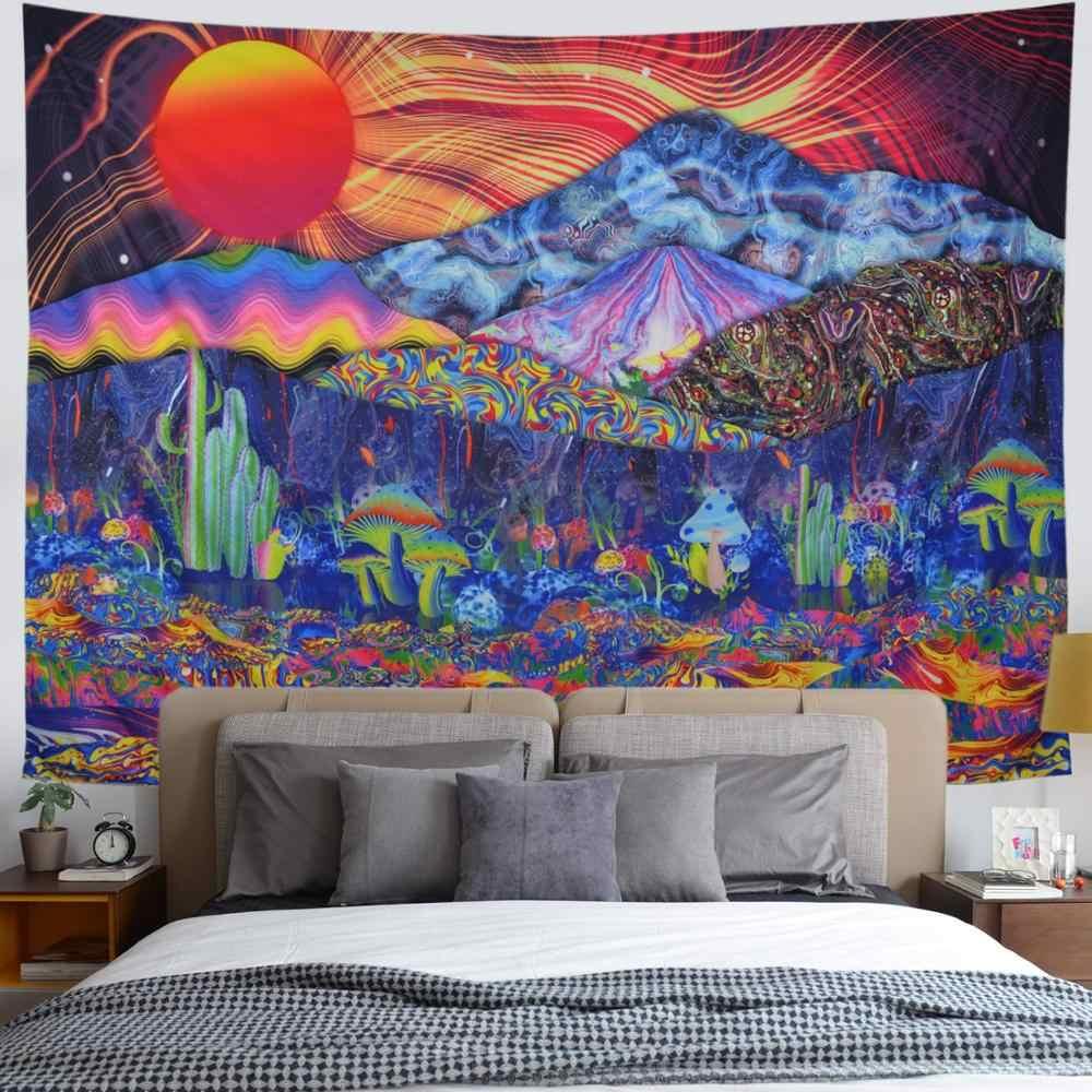 Grande Tessuto Poliestere Art Decor per Soggiorno Camera da Letto,150/×130Cm Trippy Hippie Psichedelico Tappezzeria da Parete Colorata Lumaca Floreali Arazzo da Parete