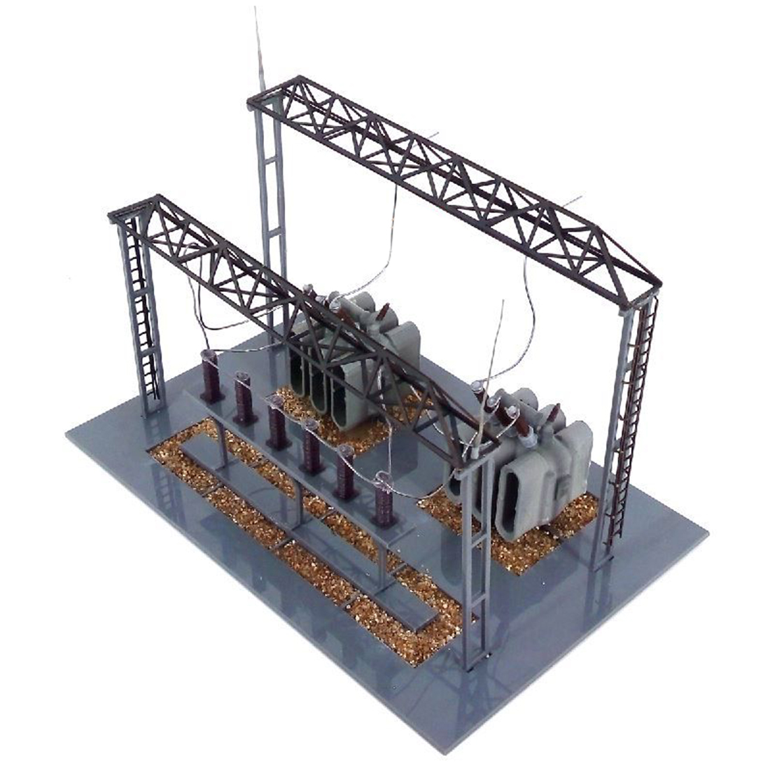 1:87 HO Scale Train Model Substation Model For Sand Table