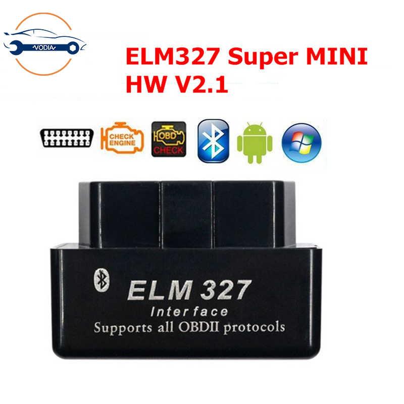 ELM327 V2.1 บลูทูธ OBD OBD2 อัตโนมัติทำงานได้ Android/PC รองรับรถยนต์หลายยี่ห้อและ Multi- ภาษา OBD2 เครื่องมือสแกนเนอร์