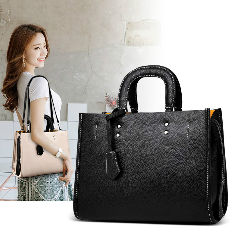 PU Leather Large Capacity Handbags 2019 Fall New Shoulder Bags Ladies High Quality Crossbody Bag Tote