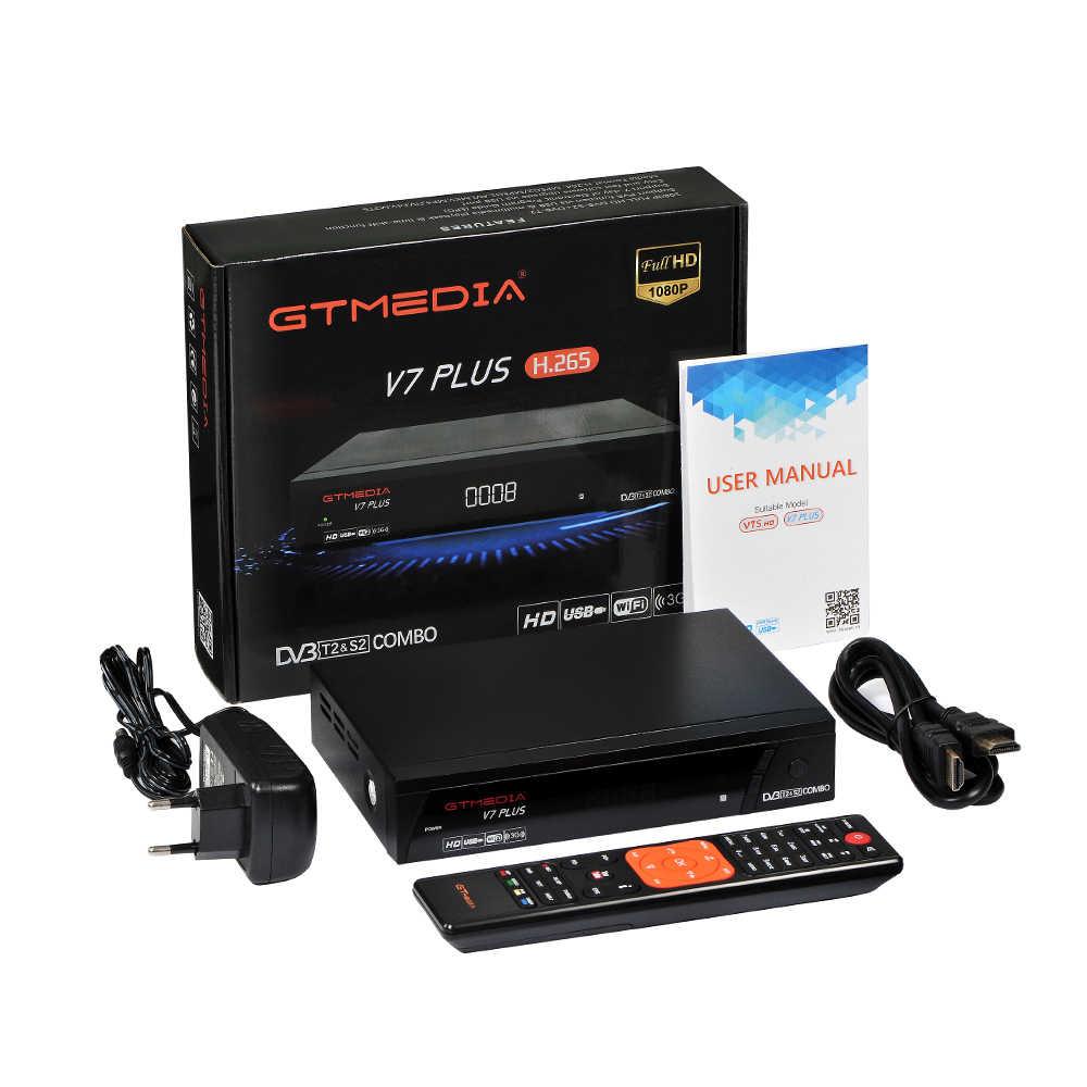 Le récepteur numérique GTmedia V7 Plus DVB-T2/S prend en charge le DVB-S ale H.265/HEVC dvb t2 offre spéciale Europe russie république tchèque allemagne