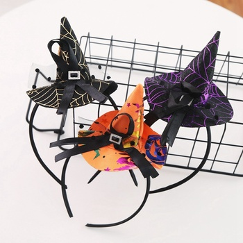 Halloween Mini Witch Hat Spiderweb Headband Adult Kids Costume Cosplay Child Hair Hoop Carnival Masquerade Party Accessories manluyunxiao aquaman mera cosplay female high boots flat heel carnival halloween costume for women masquerade shoes