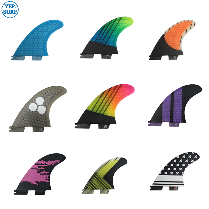 2020 New Style Surf Fins FCS2 G5 Surfboard Honeycomb Fins Tri Fin Set Fcs Fin Fibreglass