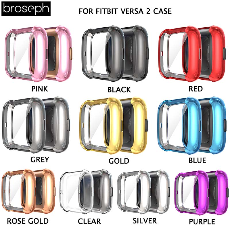 Watch Case for Fitbit Versa 2 Soft TPU protective Cases Cover for Fitbit Watch Shock-resistant Smart Watch Accessories