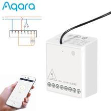 Aqara Two Way Module Wireless Zigbee Switch Relay Timer Smart Home APP Remote Control For Xiaomi Mijia for Homekit app