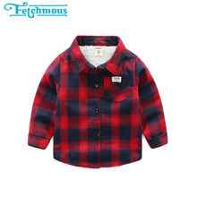 Kids Shirts Plaid Girls Boys Winter Cotton Children Velvet Thick Unisex 2-7year Plus