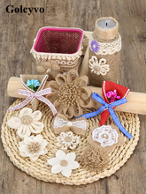 1PCS Hemp Rope Jute Flower Lace Material Weaving Twine For Party Decoration DIY Sewing Crafts Charms
