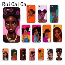 Ruicaica Black Girl Magic Melanin Poppin Queen Customer Phone Case for iPhone 8 7 6 6S 6Plus X XS MAX 5 5S SE XR 10 Cover babaite queen afro melanin poppin black girl phone cover for iphone x xs xr xsmax 7 7plus 8 8plus 6 6s 5 5s se 11 11pro 11promax