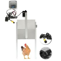Automatic Chicken Coop Door Opener Auto Open Close Chicken Coop Cage with Light Sensor & Remote Control Poultry Farm kit
